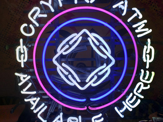 Crypto ATM BTM Neon Sign