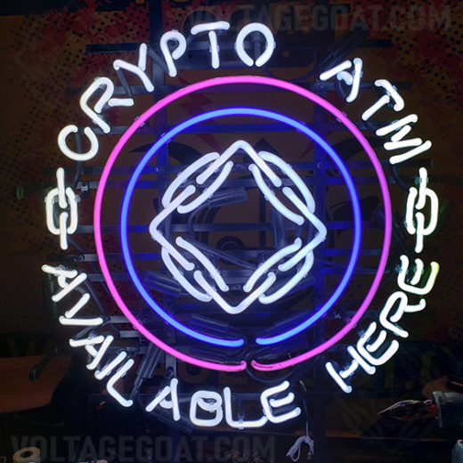 Crypto ATM BTM Neon Sign
