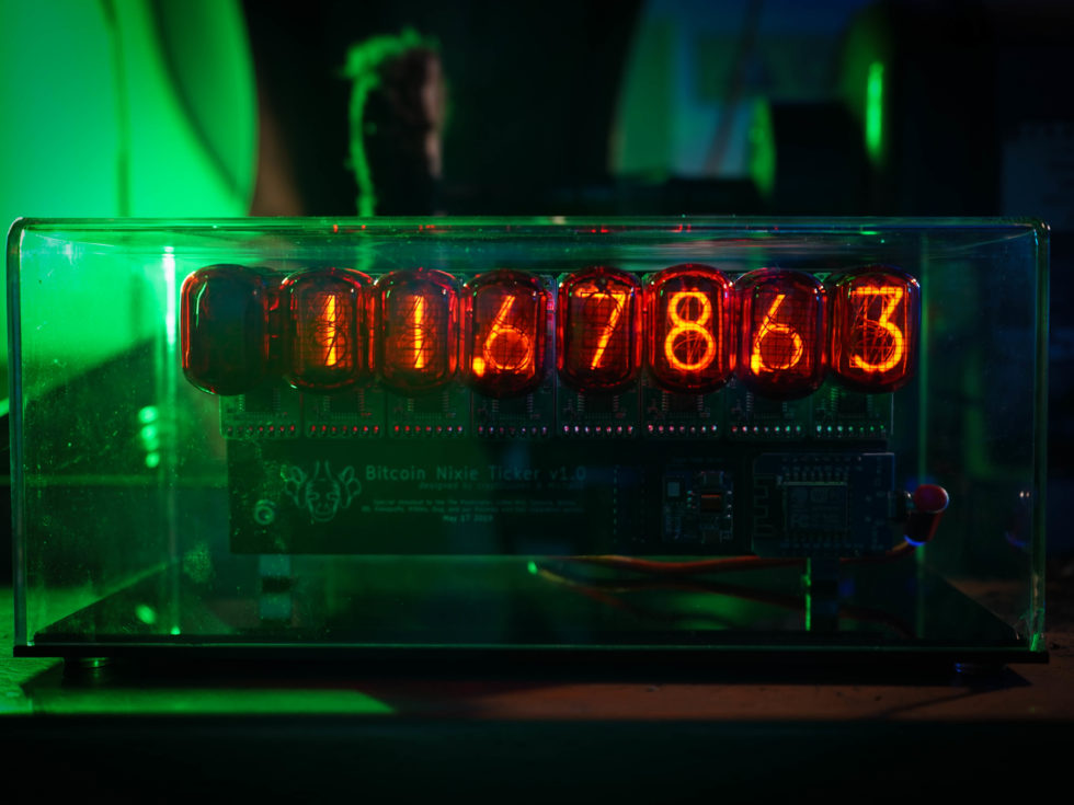 Voltage Goat Nixie Bitcoin Ticker IN-12 Vintage Front View