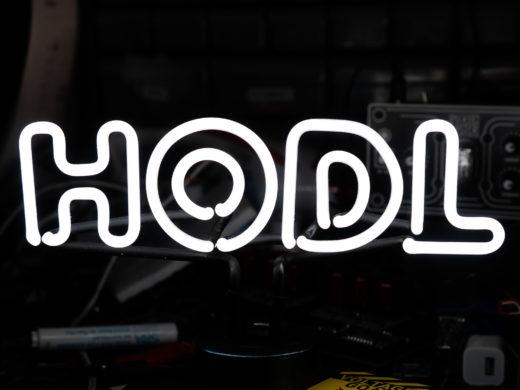 HODL NEON Closeup